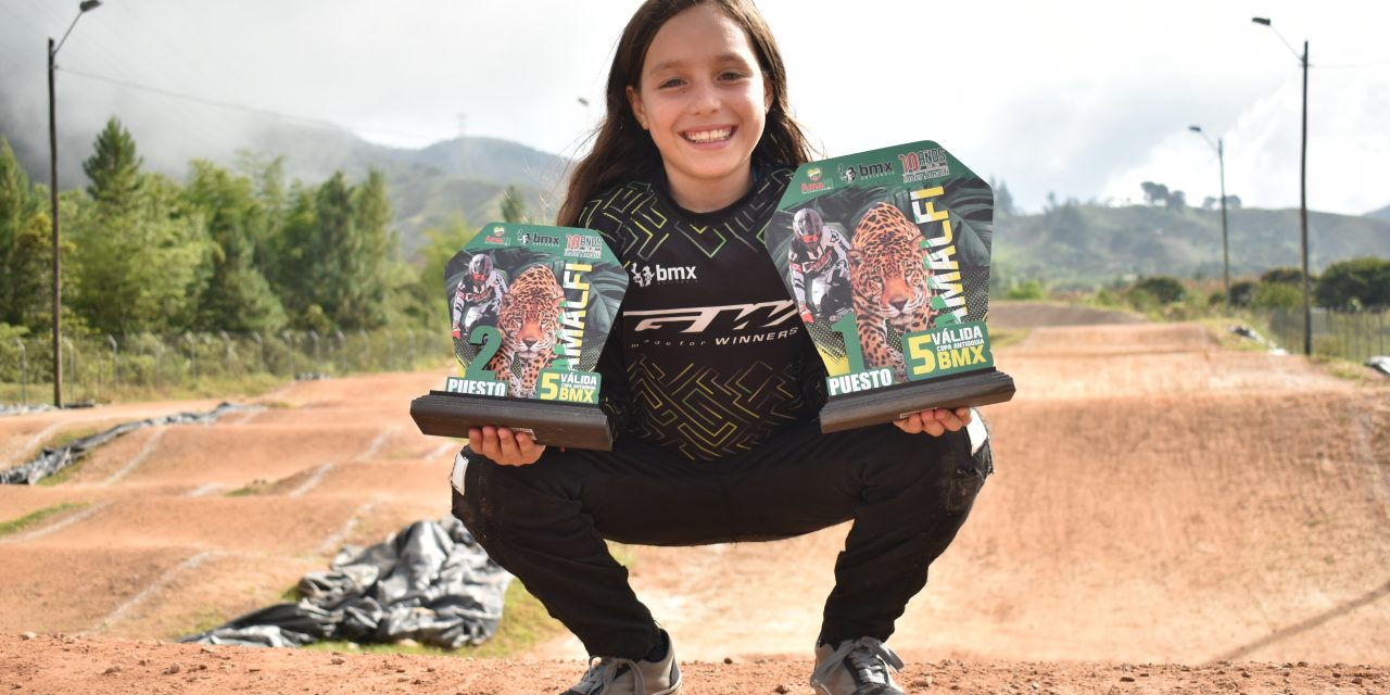 La Chispita del BMX, una de las figuras de la Copa Antioquia